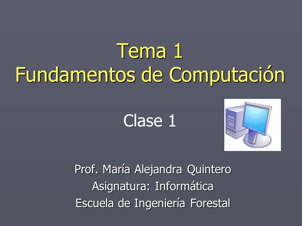 Tema 1 Fundamentos de Computación