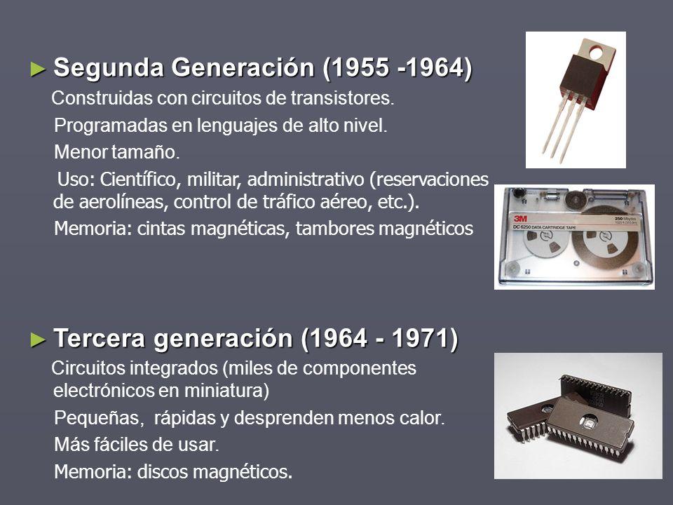 Segunda Generación (1955 -1964)