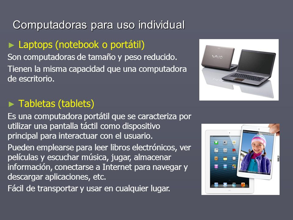 Computadoras para uso individual