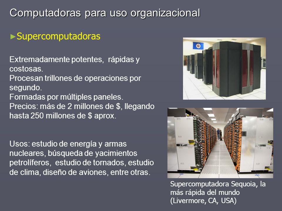 Computadoras para uso organizacional