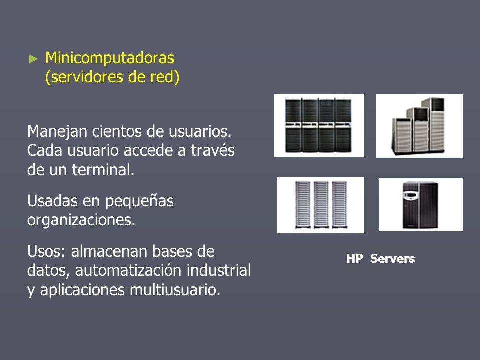 Minicomputadoras (servidores de red)