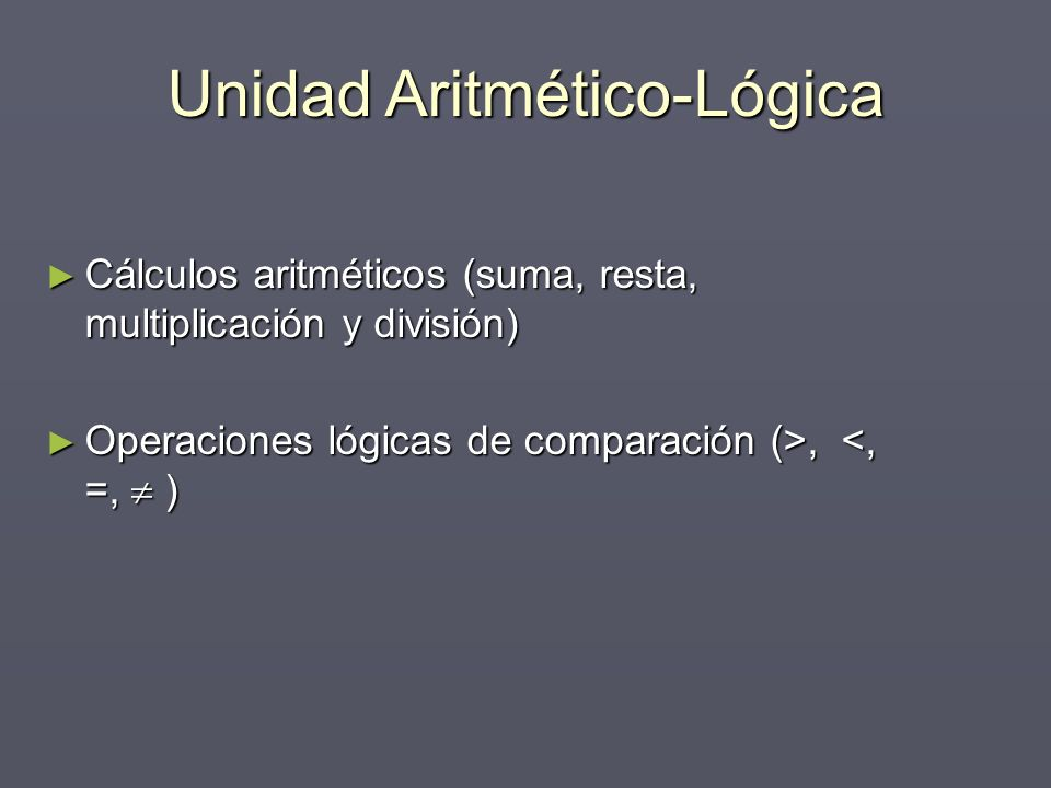 Unidad Aritmético-Lógica