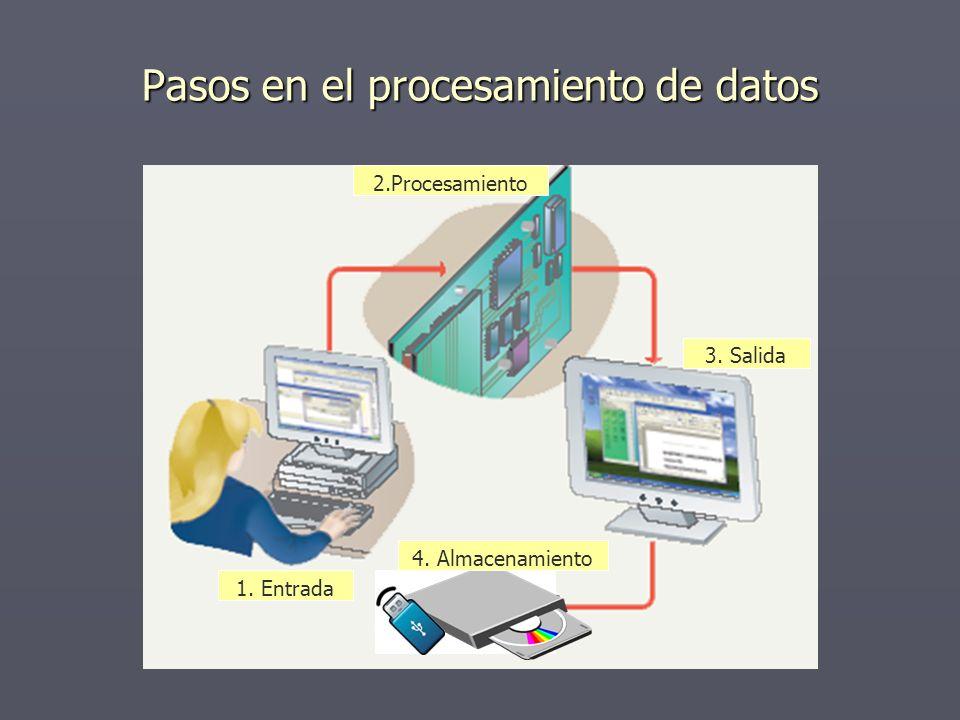 Pasos en el procesamiento de datos