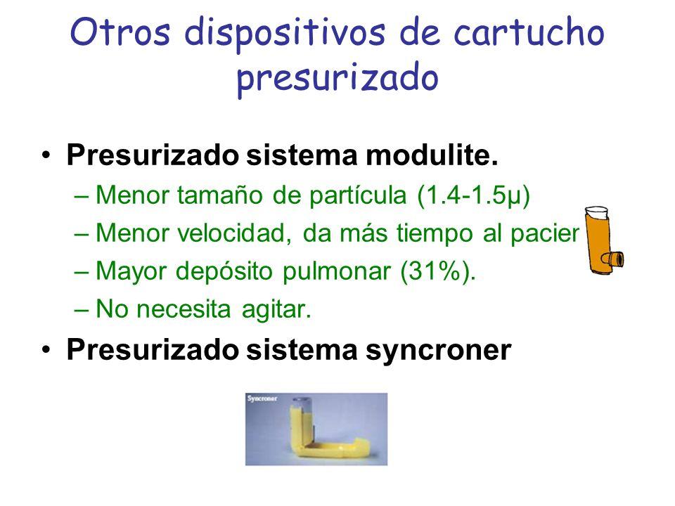 Otros dispositivos de cartucho presurizado