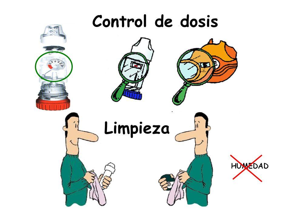 Control de dosis Limpieza HUMEDAD Dispositivos con control de dosis.