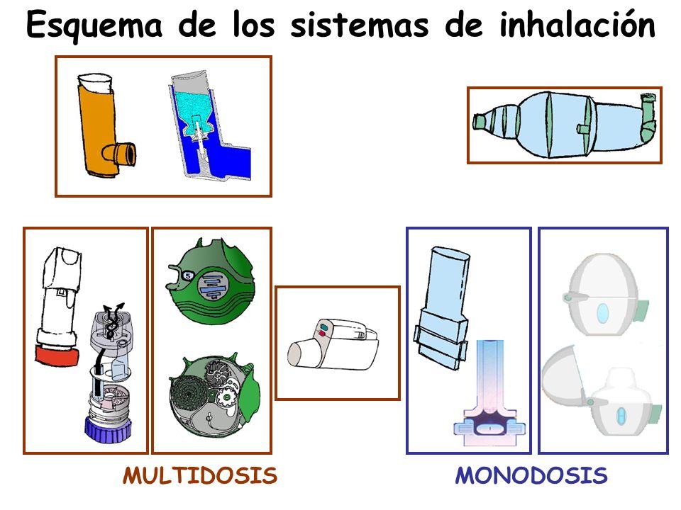 Esquema de los sistemas de inhalación