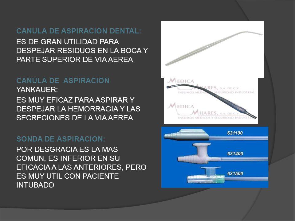 CANULA DE ASPIRACION DENTAL: