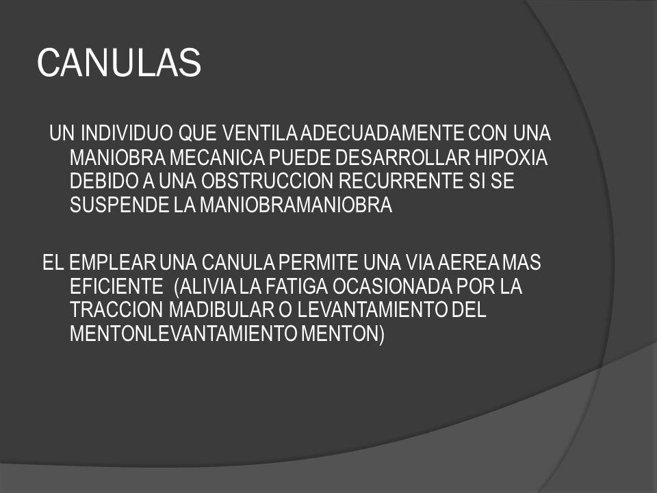 CANULAS