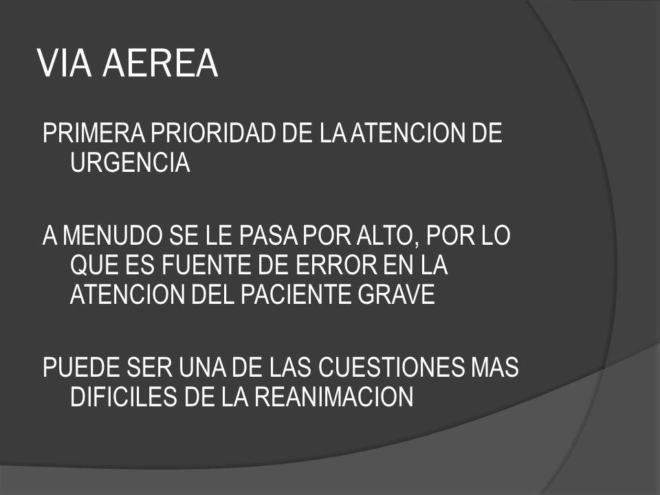 VIA AEREA PRIMERA PRIORIDAD DE LA ATENCION DE URGENCIA