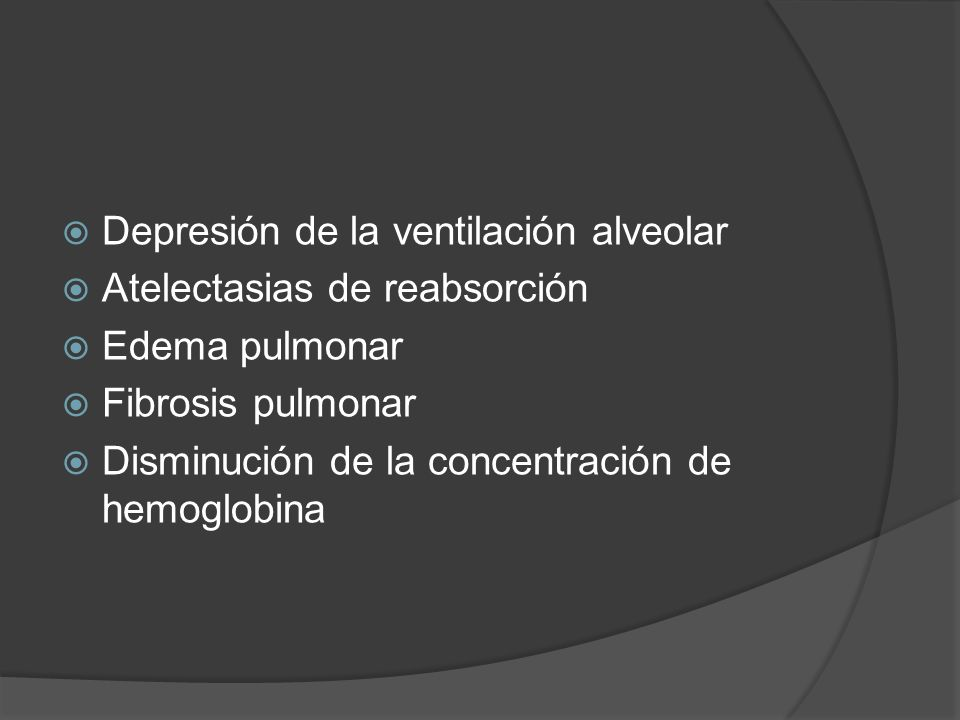 Depresión de la ventilación alveolar