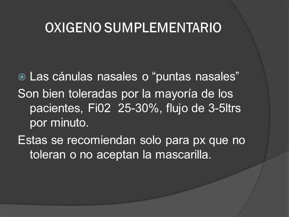 OXIGENO SUMPLEMENTARIO