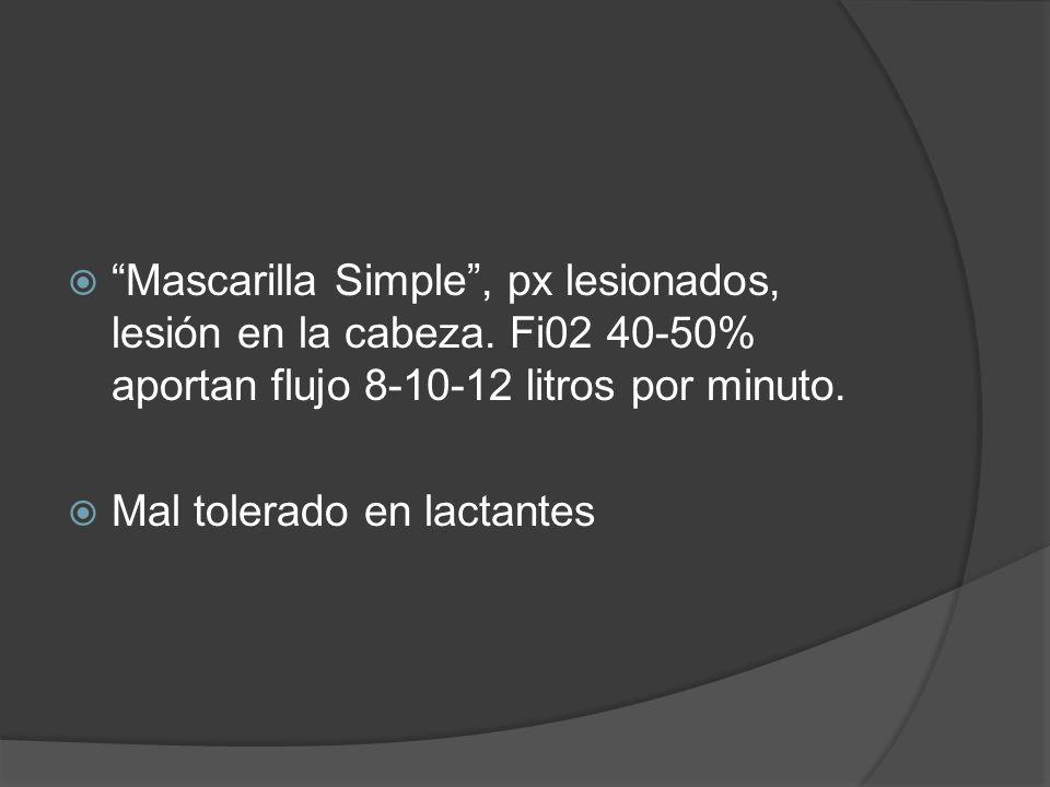 Mascarilla Simple , px lesionados, lesión en la cabeza