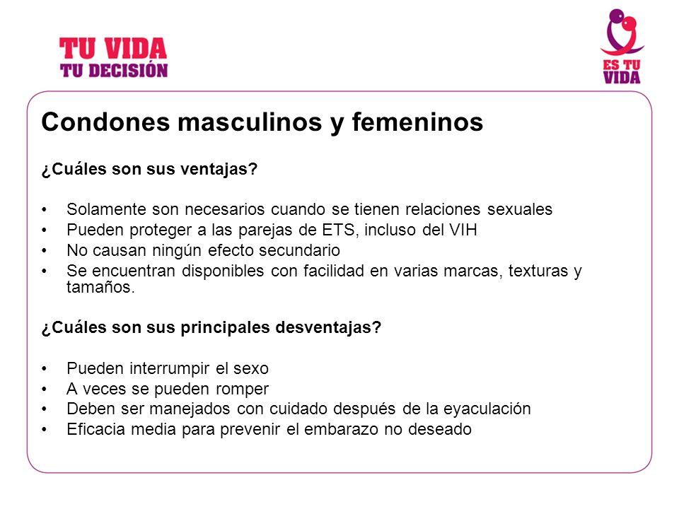Condones masculinos y femeninos