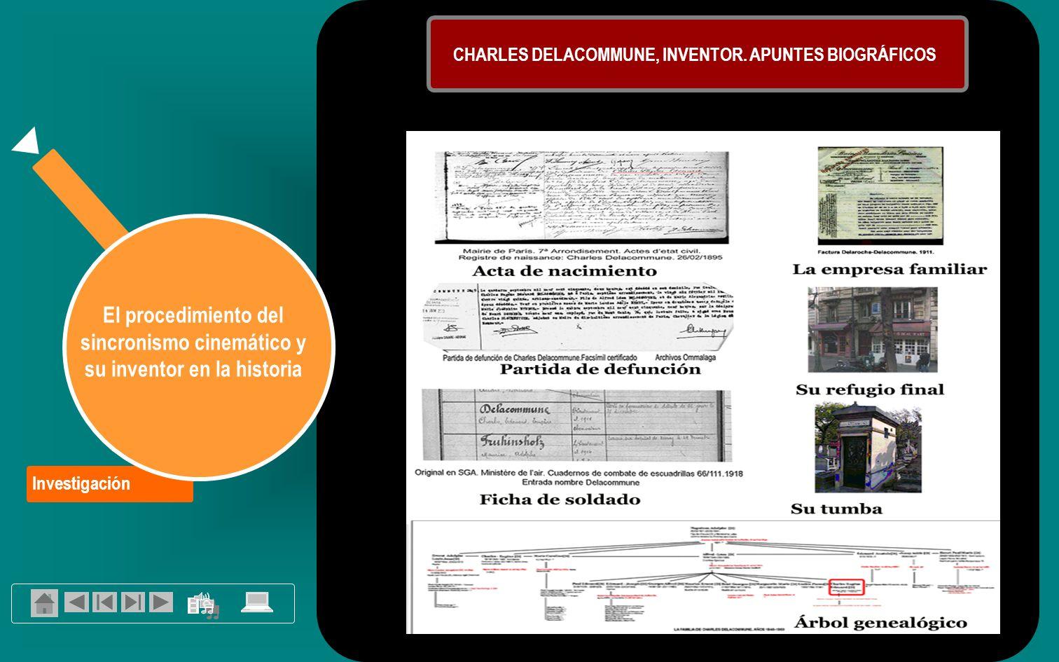 CHARLES DELACOMMUNE, INVENTOR. APUNTES BIOGRÁFICOS