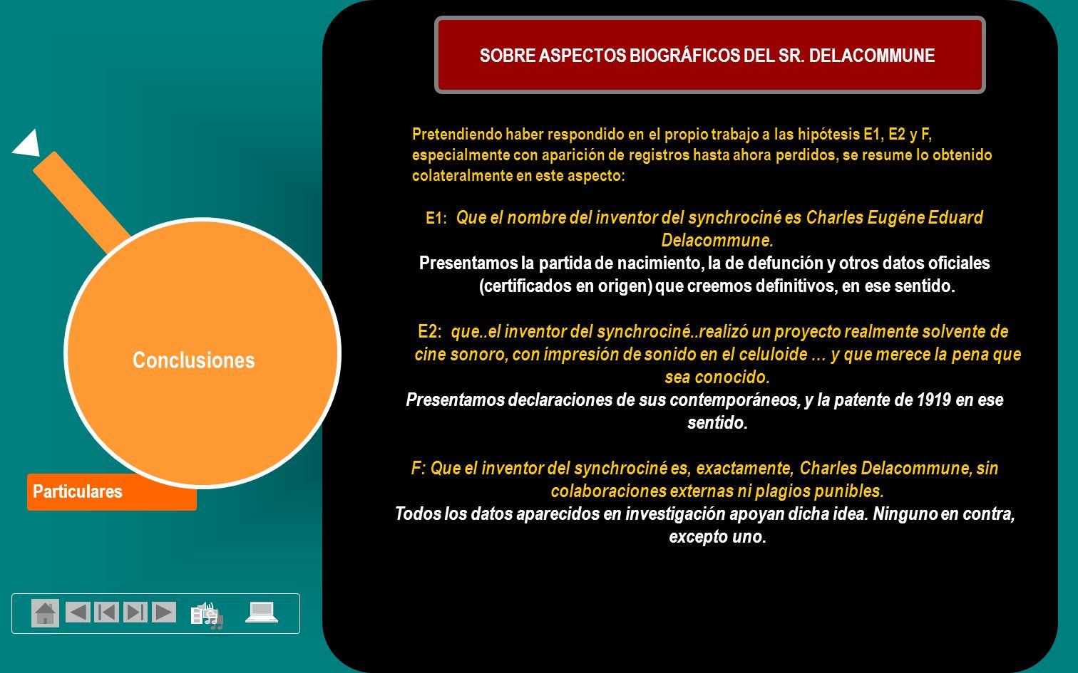 SOBRE ASPECTOS BIOGRÁFICOS DEL SR. DELACOMMUNE