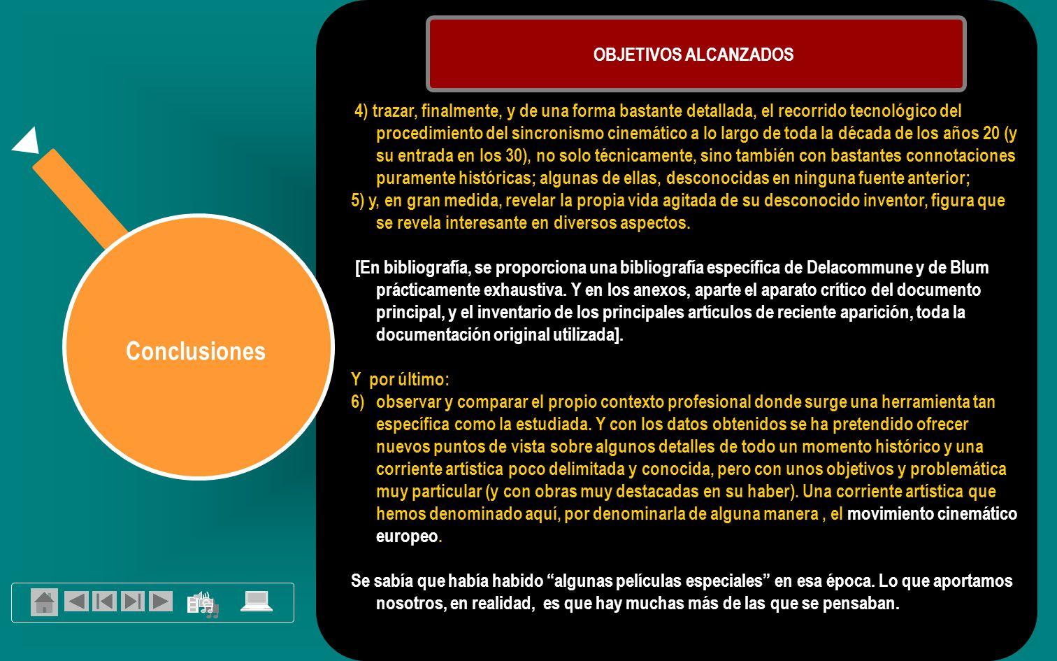 Conclusiones OBJETIVOS ALCANZADOS