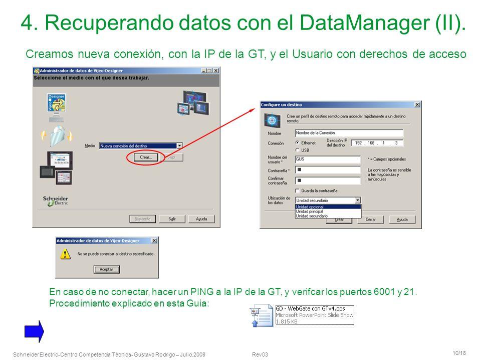 4. Recuperando datos con el DataManager (II).