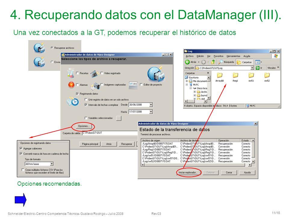 4. Recuperando datos con el DataManager (III).