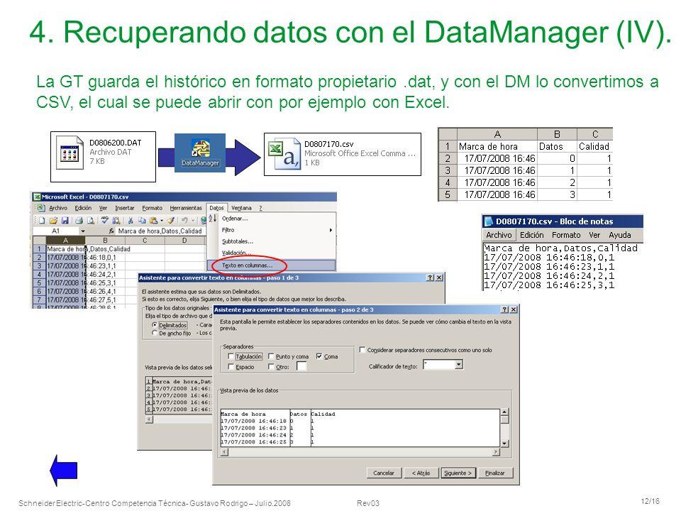 4. Recuperando datos con el DataManager (IV).