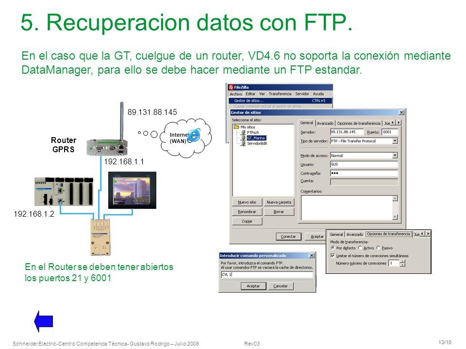 5. Recuperacion datos con FTP.