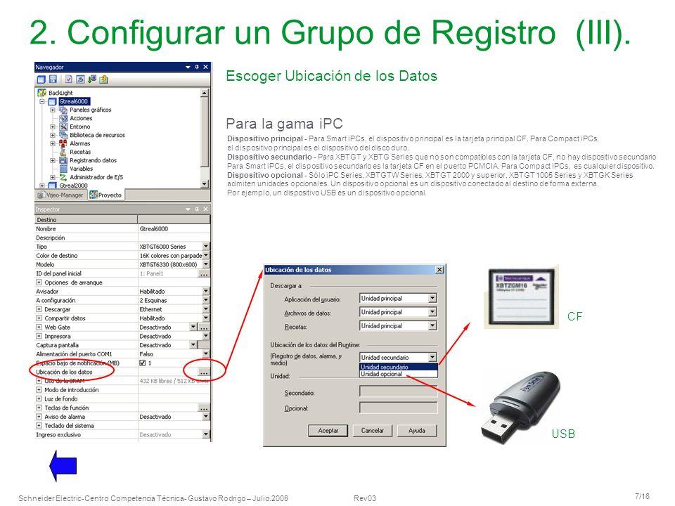 2. Configurar un Grupo de Registro (III).