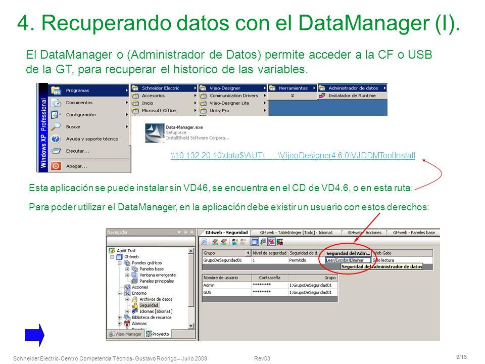 4. Recuperando datos con el DataManager (I).