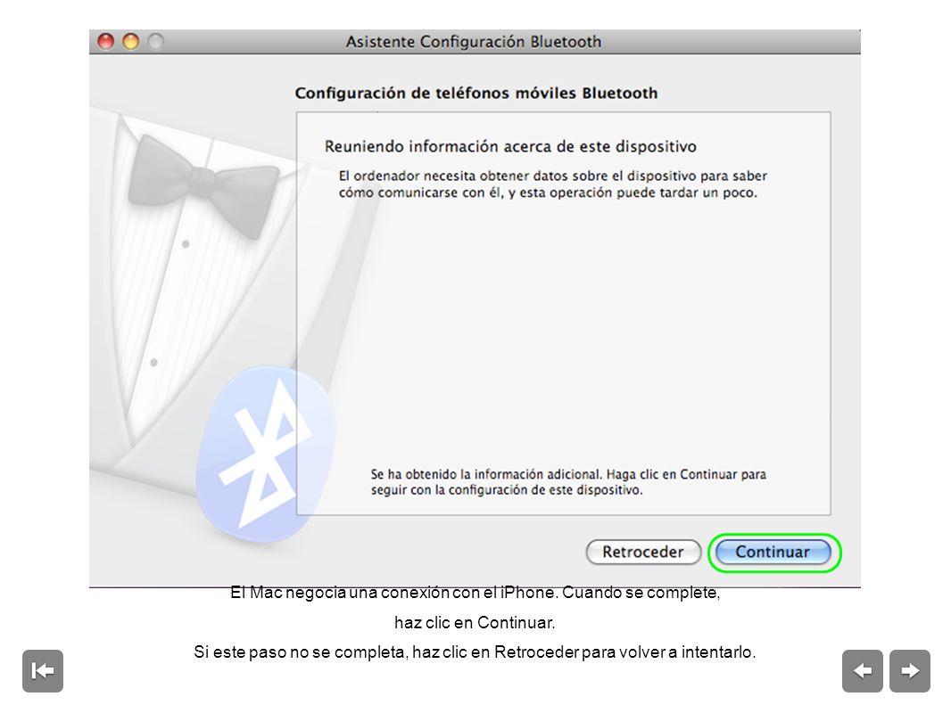El Mac negocia una conexión con el iPhone