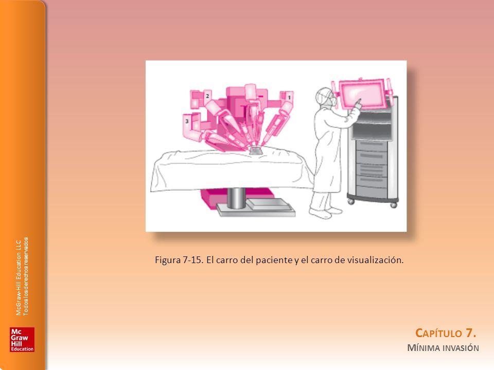 Figura 7-15. El carro del paciente y el carro de visualización.