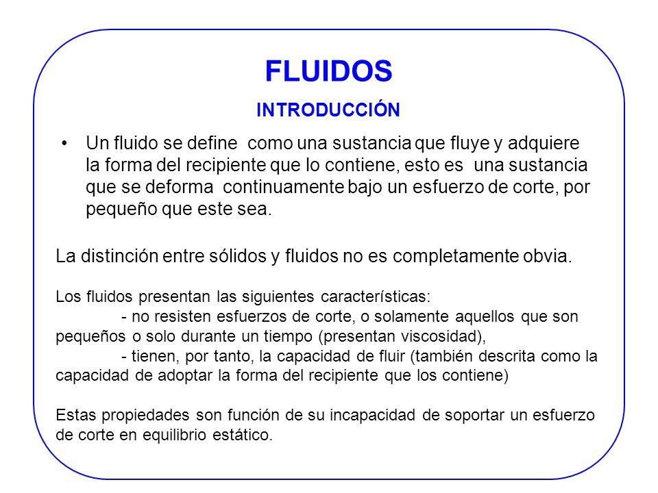 FLUIDOS INTRODUCCIÓN.