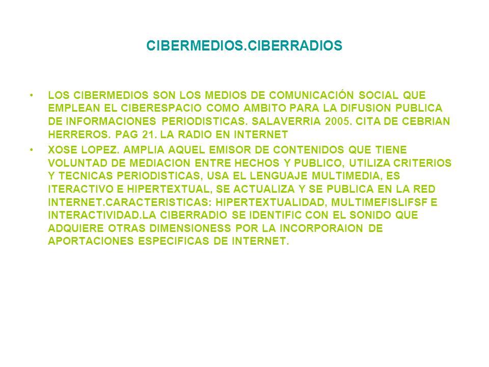 CIBERMEDIOS.CIBERRADIOS