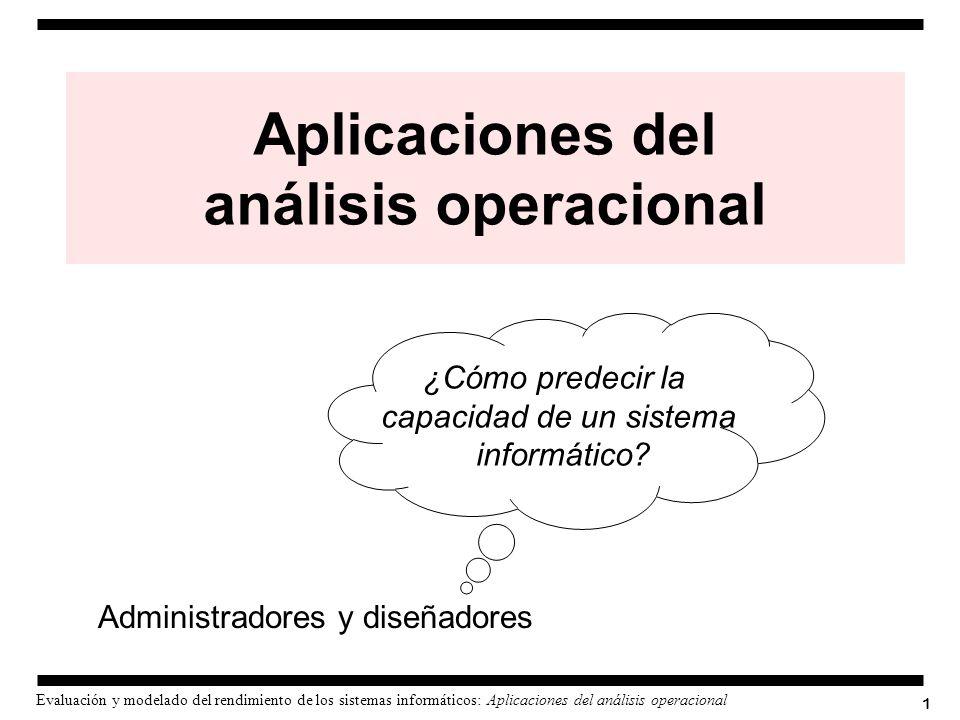 Aplicaciones del análisis operacional