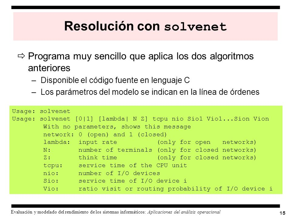 Resolución con solvenet