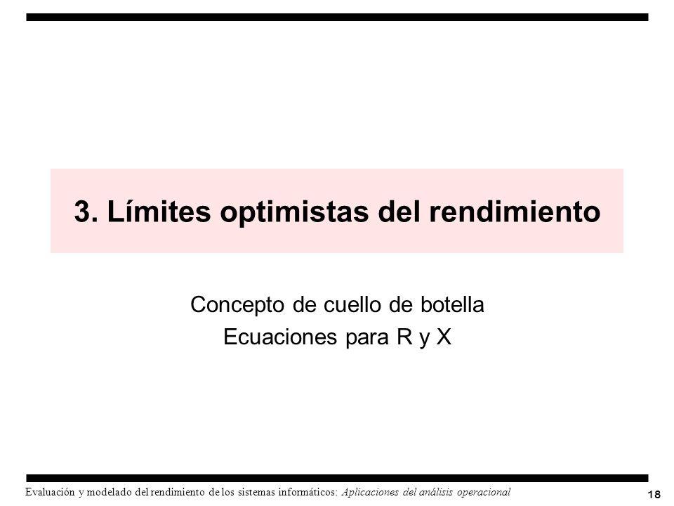 3. Límites optimistas del rendimiento