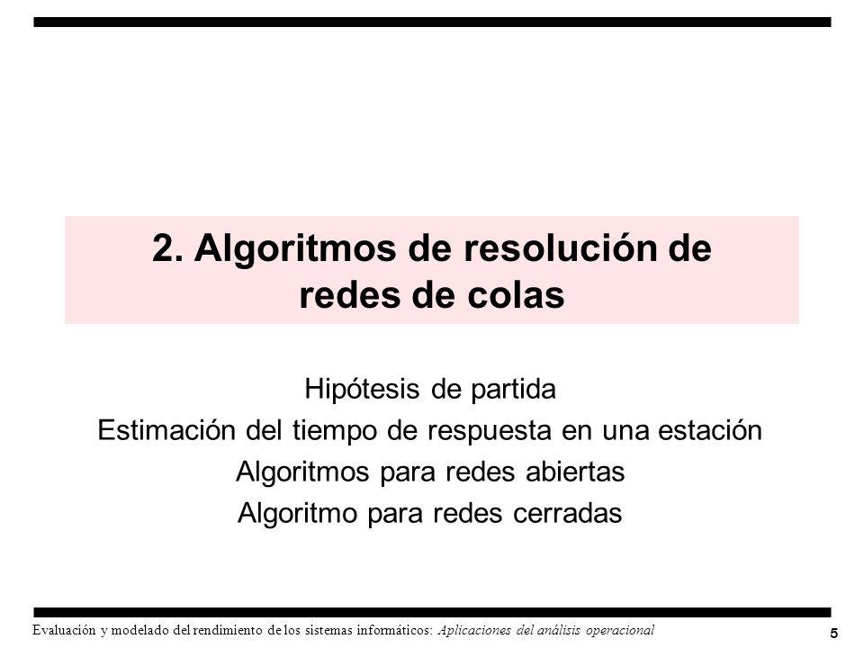 2. Algoritmos de resolución de redes de colas