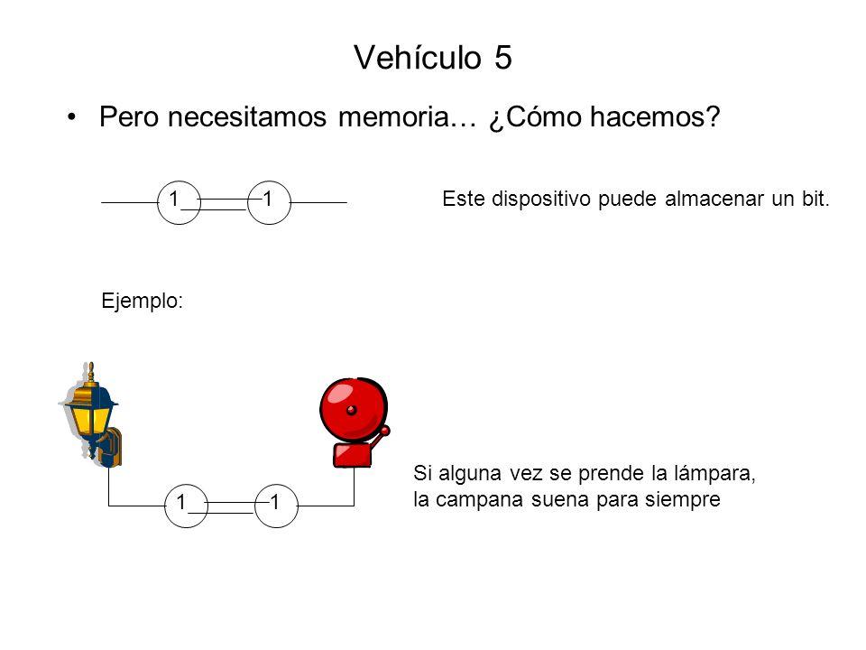 Vehículo 5 Pero necesitamos memoria… ¿Cómo hacemos 1