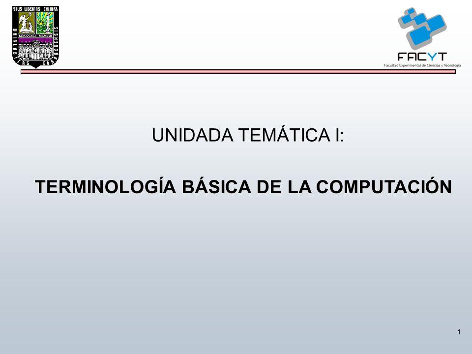 TERMINOLOGÍA BÁSICA DE LA COMPUTACIÓN