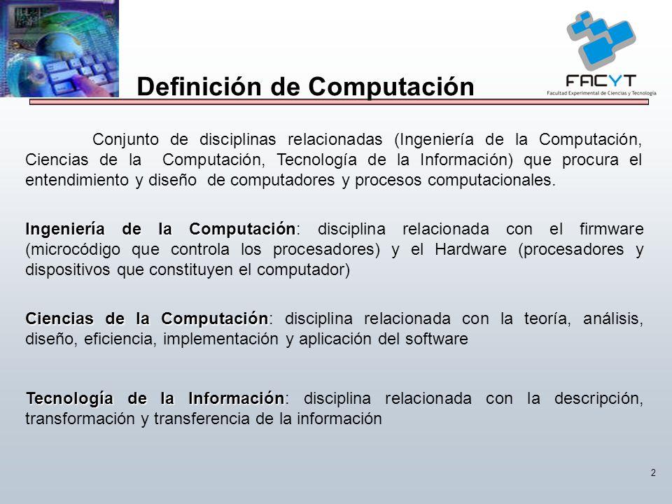 Definición de Computación