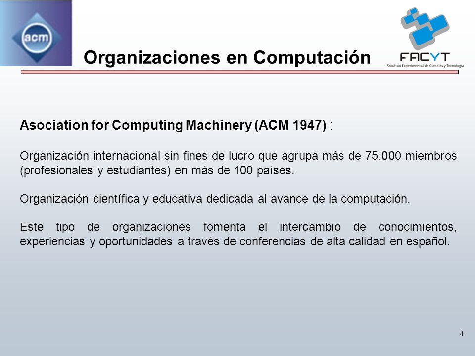 Organizaciones en Computación