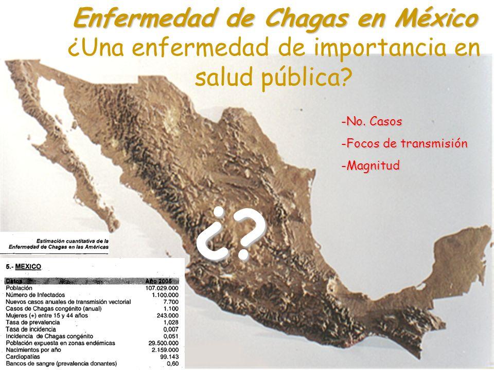 Enfermedad de Chagas en México ¿Una enfermedad de importancia en salud pública