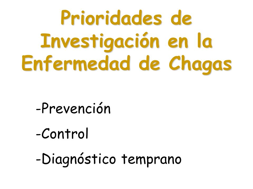 Prioridades de Investigación en la Enfermedad de Chagas