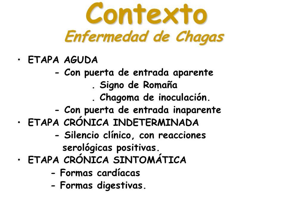 Contexto Enfermedad de Chagas ETAPA AGUDA