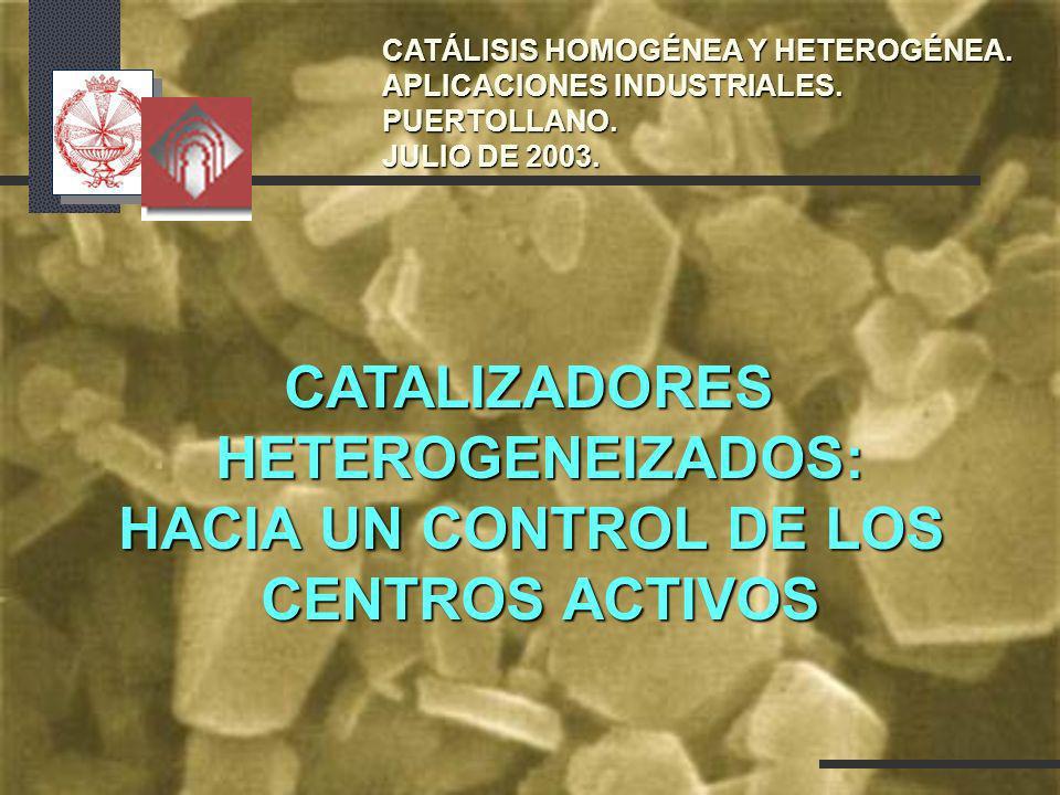 CATALIZADORES HETEROGENEIZADOS: HACIA UN CONTROL DE LOS
