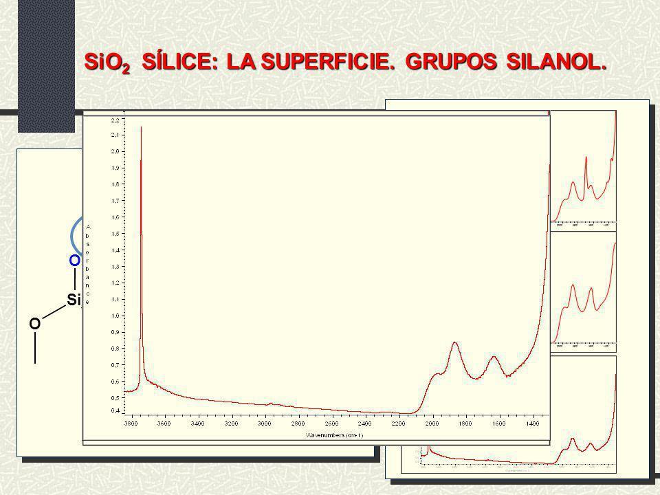 SiO2 SÍLICE: LA SUPERFICIE. GRUPOS SILANOL.
