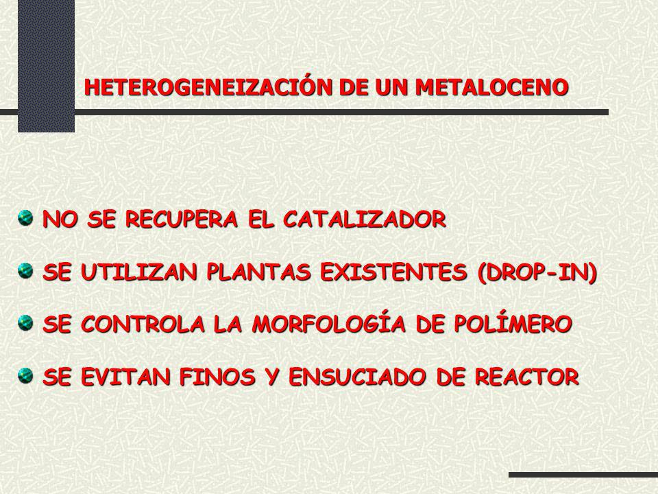 HETEROGENEIZACIÓN DE UN METALOCENO