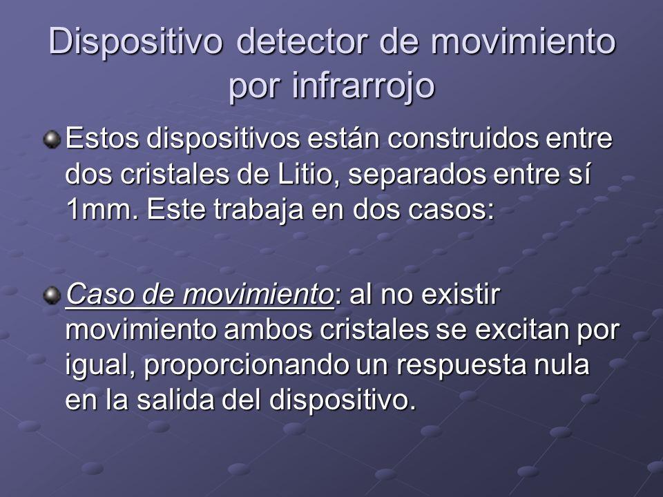 Dispositivo detector de movimiento por infrarrojo