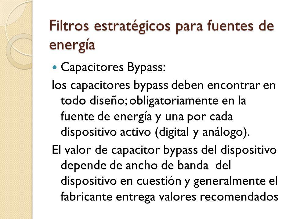 Filtros estratégicos para fuentes de energía