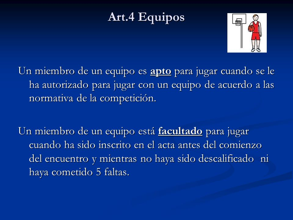 Art.4 Equipos