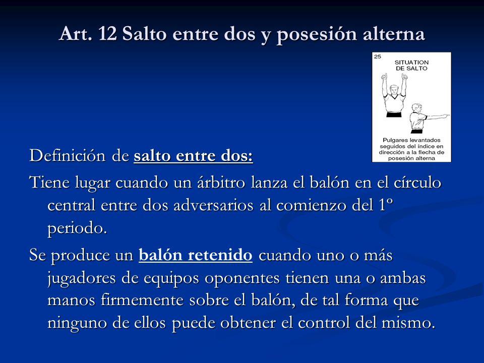 Art. 12 Salto entre dos y posesión alterna