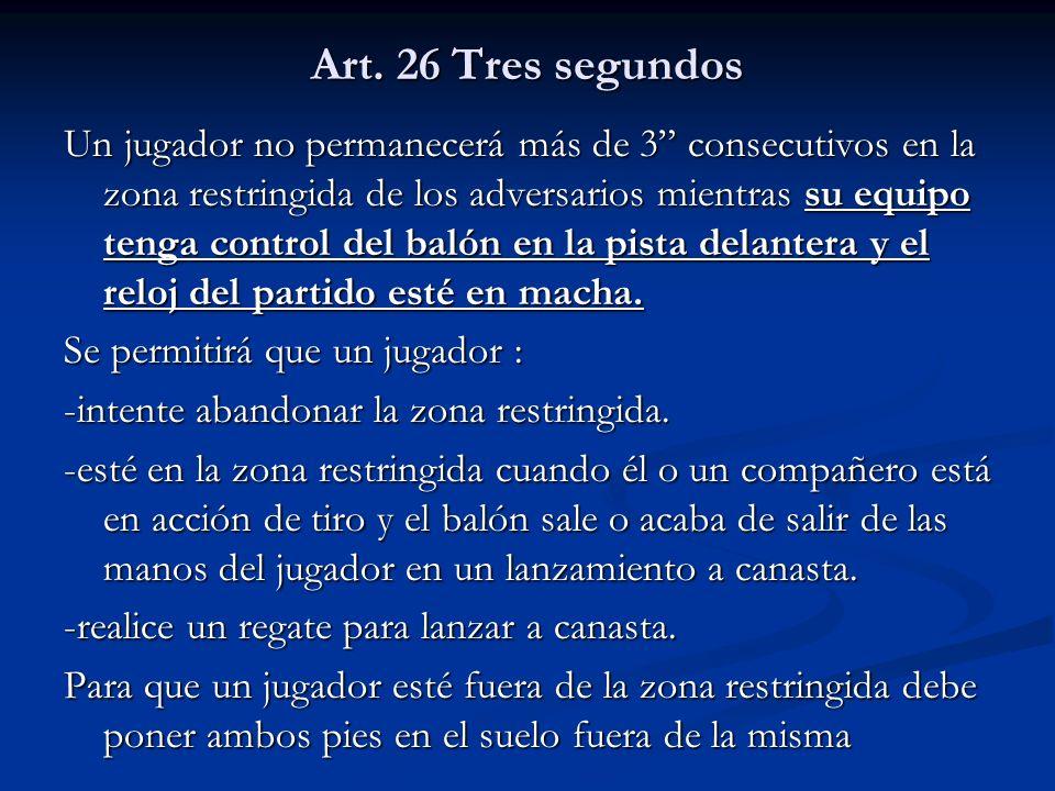 Art. 26 Tres segundos