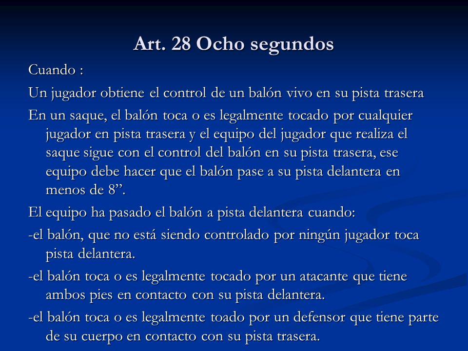 Art. 28 Ocho segundos Cuando :